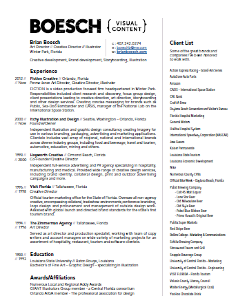 Brian Boesch - Resume